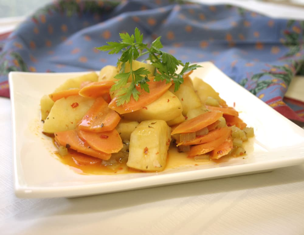 Recipe Stewed Apples and Carrots Medley