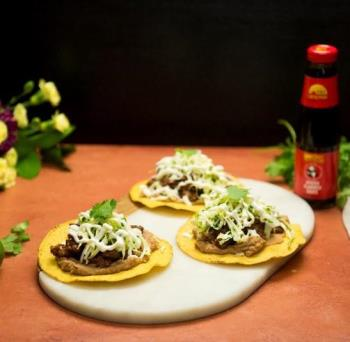 Beef Tostadas with Cilantro Lime Slaw S