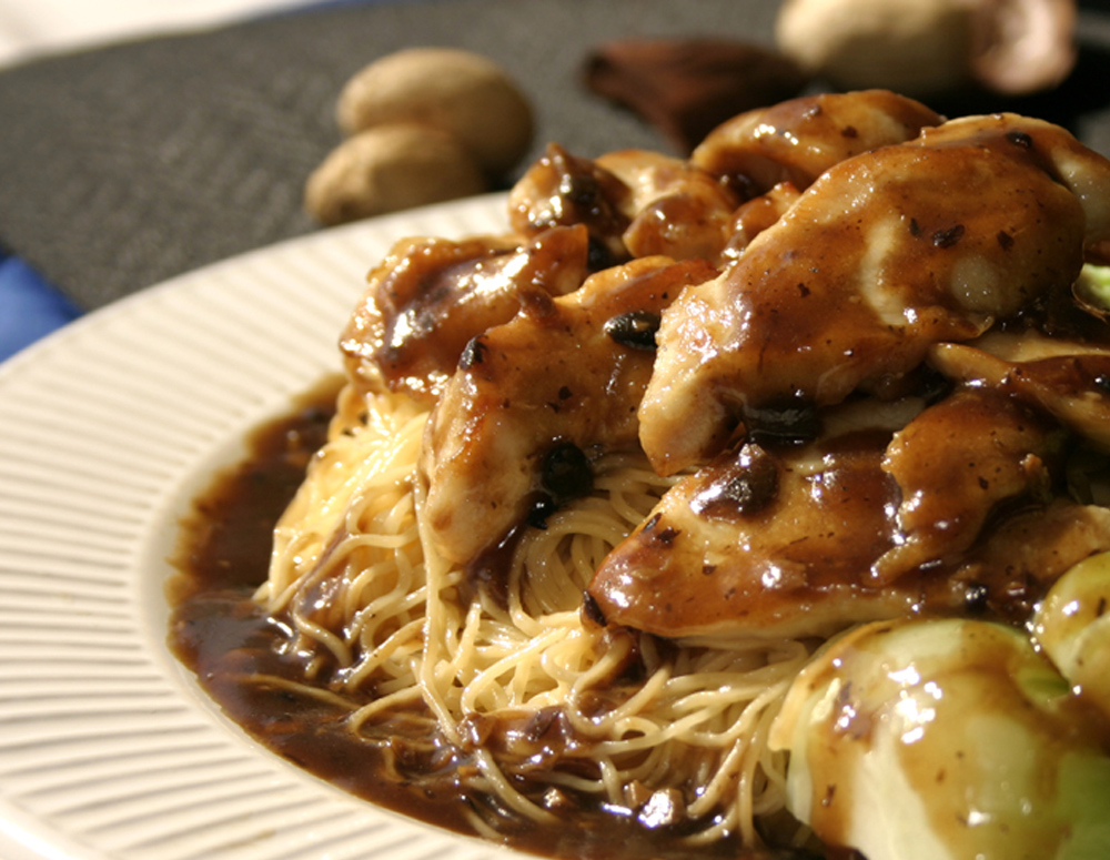 Recipe Chicken with Egg Noodles and Bok Choy