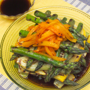Recipe Grilled Asparagus & Squash with Lee Kum Kee Premium Soy Sauce