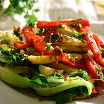 Recipe Grilled Vegetables with Premium Soy Sauce and Herbs S