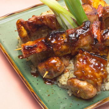 Recipe Pineapple Pork Kabobs with Lee Kum Kee Premium Oyster Flavored Sauce
