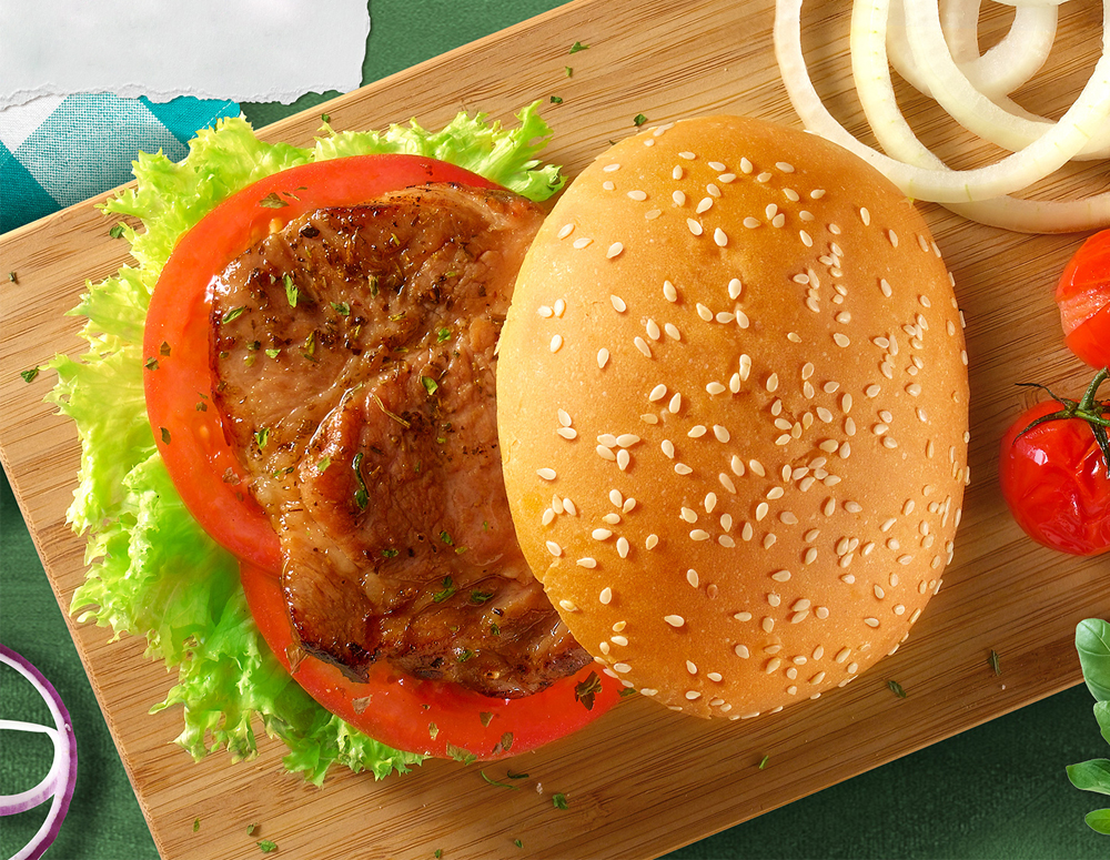Recipe Pork Chop Burger with Oyster Sauce