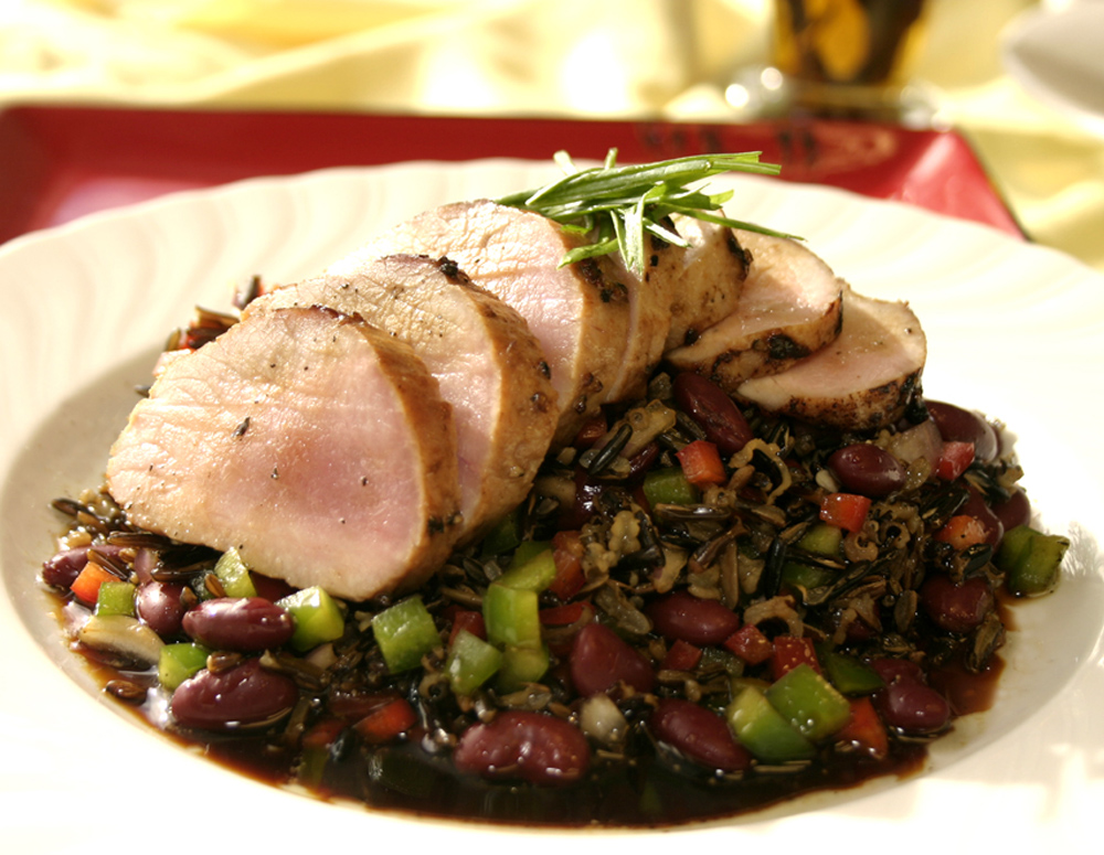 Recipe Pork Medallion Served with Wild Rice