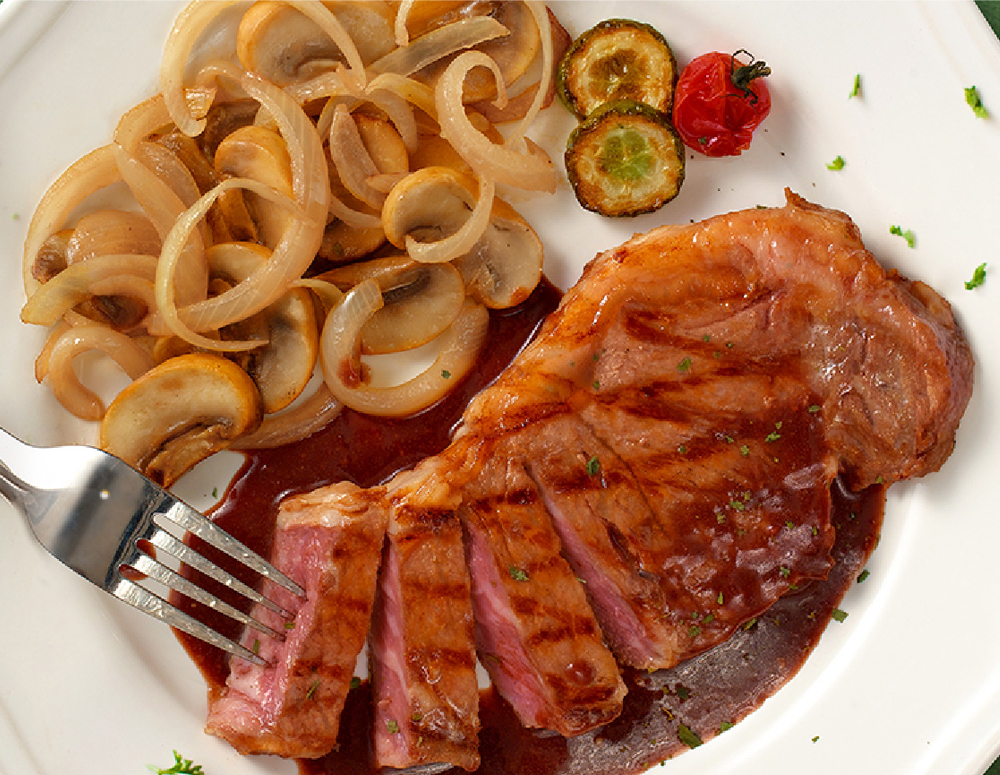 Recipe Sirloin steak in Red Wine Oyster Sauce