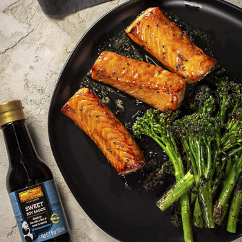Recipe Soy Glazed Salmon with Broccoli Rabe S