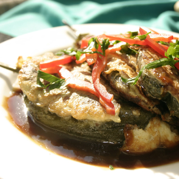Recipe Stuffed Chili Relleno with Oyster Flavored Sauce